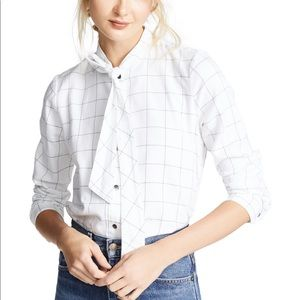 Madewell Flannel Tie-Neck Shirt